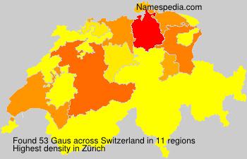 Familiennamen Gaus - Switzerland