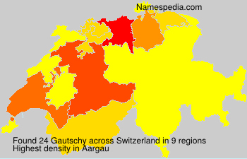 Surname Gautschy in Switzerland