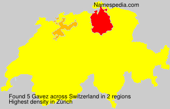 Surname Gavez in Switzerland