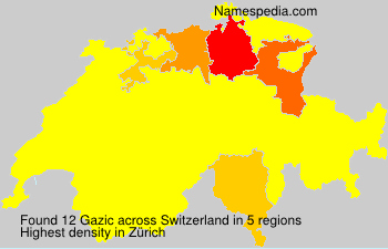 Surname Gazic in Switzerland