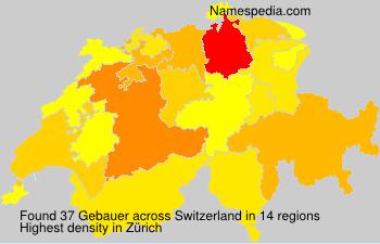 Surname Gebauer in Switzerland