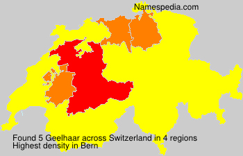 Surname Geelhaar in Switzerland