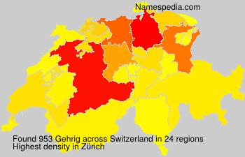 Surname Gehrig in Switzerland