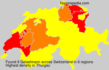 Surname Geiselmann in Switzerland