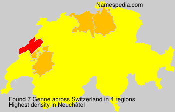 Surname Genne in Switzerland