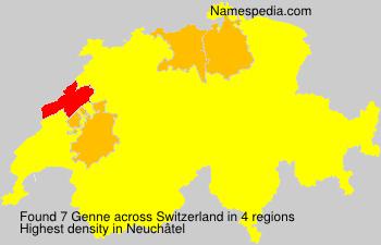 Familiennamen Genne - Switzerland