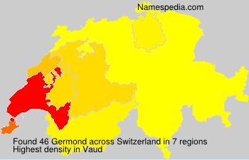 Surname Germond in Switzerland