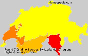 Surname Ghidinelli in Switzerland