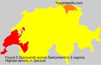 Surname Giancamilli in Switzerland