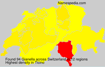 Surname Gianella in Switzerland