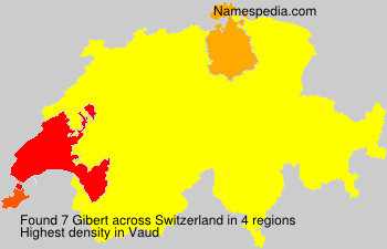 Surname Gibert in Switzerland