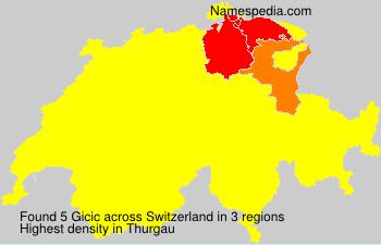 Surname Gicic in Switzerland