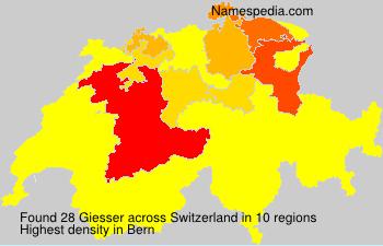 Surname Giesser in Switzerland