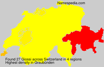 Surname Giossi in Switzerland