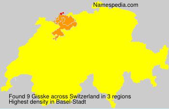 Surname Gisske in Switzerland