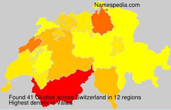 Surname Giudice in Switzerland