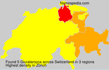 Surname Giuralarocca in Switzerland