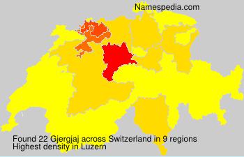 Surname Gjergjaj in Switzerland
