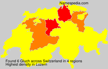 Surname Gluch in Switzerland