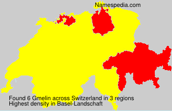 Surname Gmelin in Switzerland