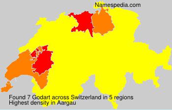 Surname Godart in Switzerland