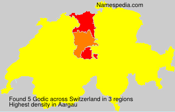 Familiennamen Godic - Switzerland