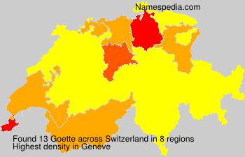 Surname Goette in Switzerland