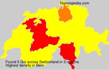 Surname Goi in Switzerland