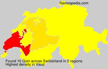 Surname Goin in Switzerland