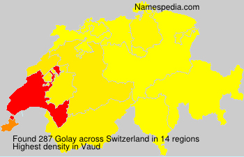 Surname Golay in Switzerland