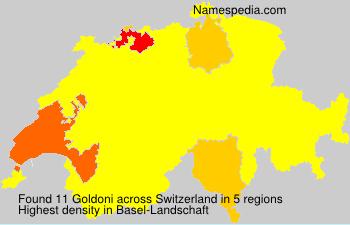 Surname Goldoni in Switzerland