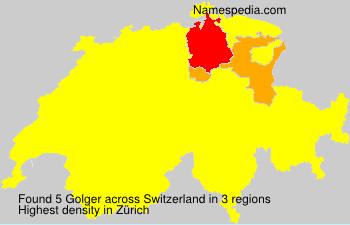 Surname Golger in Switzerland