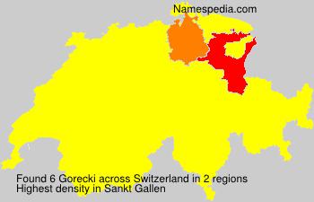 Surname Gorecki in Switzerland