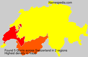 Surname Gorris in Switzerland