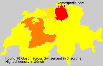 Surname Gosch in Switzerland