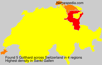 Surname Gotthard in Switzerland