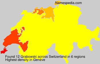 Surname Grabowski in Switzerland