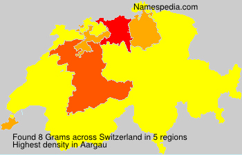Surname Grams in Switzerland