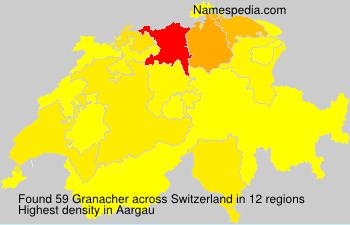 Familiennamen Granacher - Switzerland