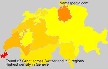 Surname Grant in Switzerland