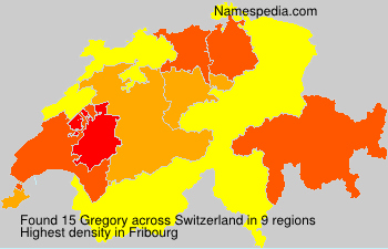 Surname Gregory in Switzerland