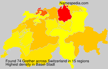 Surname Grether in Switzerland