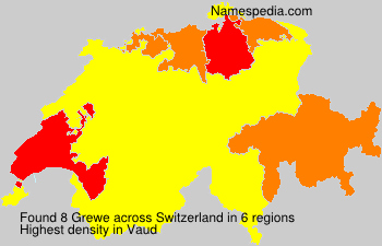 Surname Grewe in Switzerland