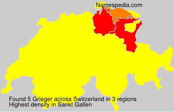 Surname Grieger in Switzerland