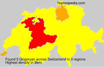 Surname Grigoryan in Switzerland