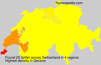 Surname Grillet in Switzerland