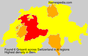 Surname Grisanti in Switzerland