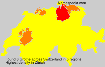 Surname Grothe in Switzerland