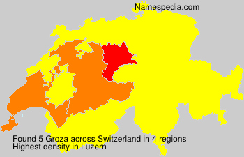 Surname Groza in Switzerland