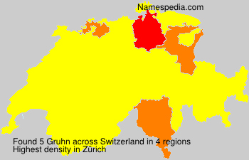 Surname Gruhn in Switzerland
